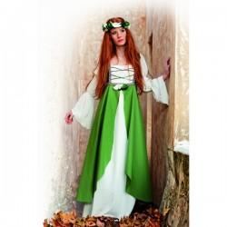 Disfraz medieval Clarisa verde - Imagen 1