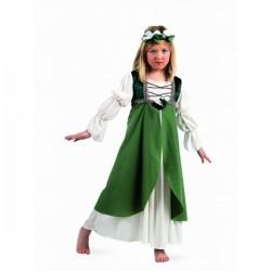 Disfraz medieval Clarisa verde para niña - Imagen 1