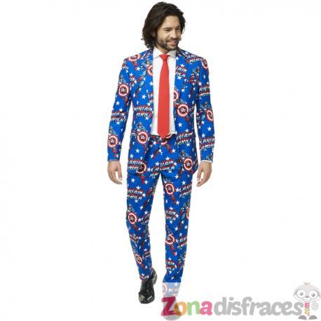 Traje Capitán América Opposuit para hombre - Imagen 1