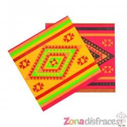 Set de 12 servilletas para fiesta mejicana - Imagen 1