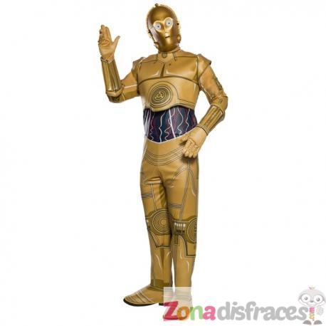 Disfraz de C3PO para adulto - Star Wars. Comprar Online bdb9b1a9f9b