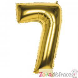 Globo número 7 dorado 86 cm - Imagen 1