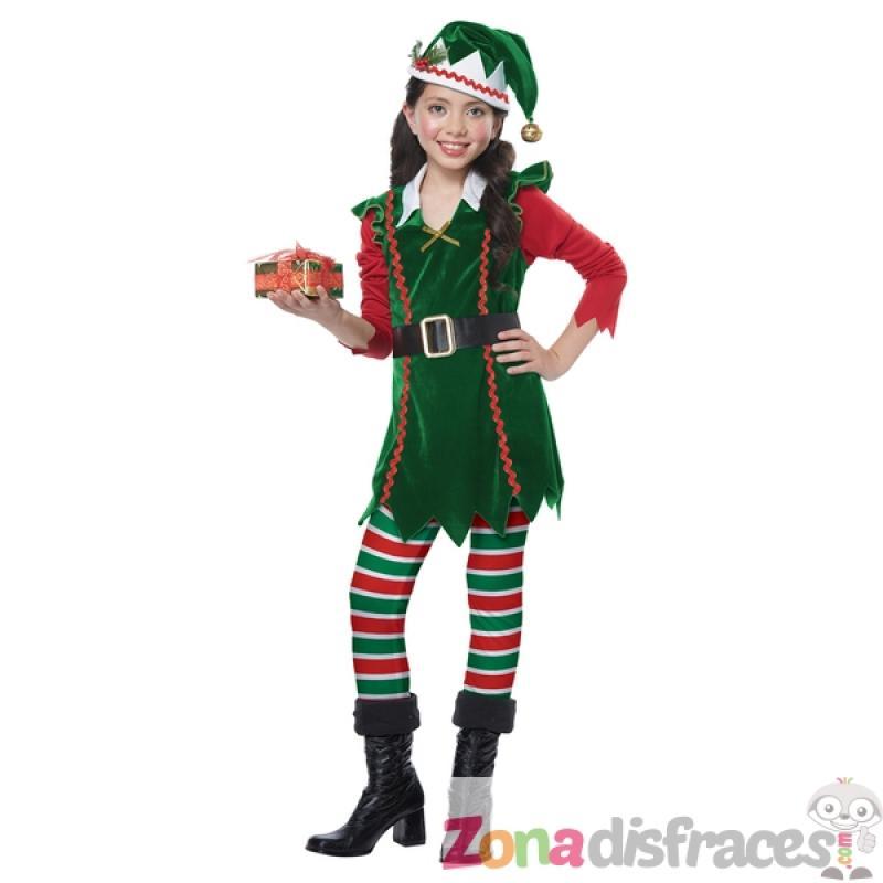 Disfraz de elfo navide o para ni a comprar online - Disfraz navideno nina ...