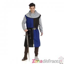 Sobrevesta medieval azul para hombre - Imagen 1