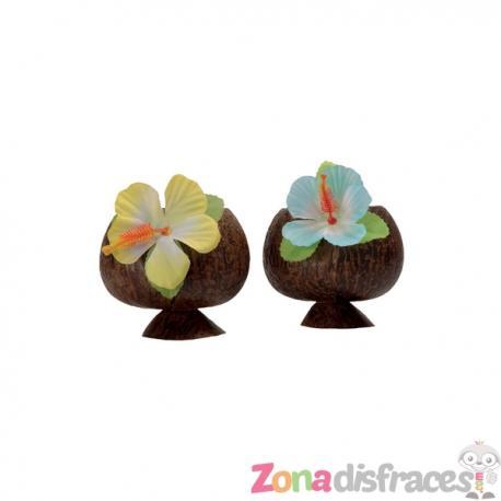 Set de 2 vasos de coco Hawái - Imagen 1