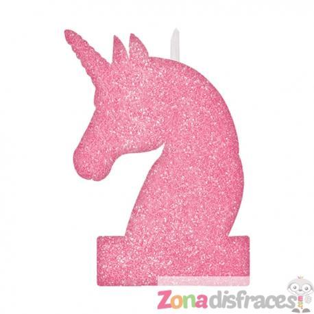 Vela brillante unicornio - Imagen 1