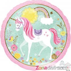 Globo foil de princesa unicornio - Imagen 1