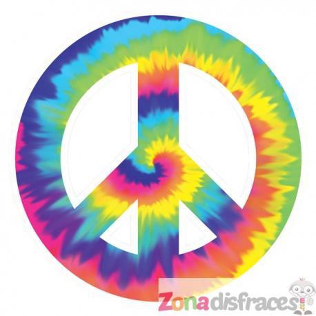 Cartel decorativo símbolo de la paz hippie - Imagen 1