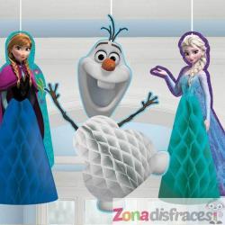 Set de 3 muñecos colgantes de panel de abeja de Frozen - Imagen 1