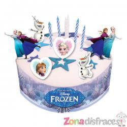 Kit de decoración para tarta de Frozen - Imagen 1