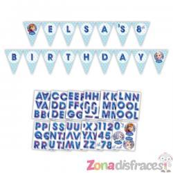 Guirnalda cumpleaños de Frozen personalizable - Imagen 1