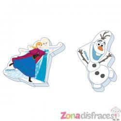 Set de 12 goma de borrar variadas de Frozen - Imagen 1