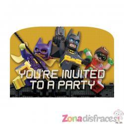 Set de 8 invitaciones Batman La Lego Película - Imagen 1