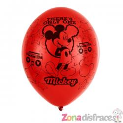 Set de 6 globos de látex Mickey Mouse party - Imagen 1