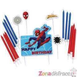 Set de 17 velas de Spiderman - Imagen 1