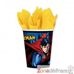 Set de 8 vasos de Superman - Imagen 1