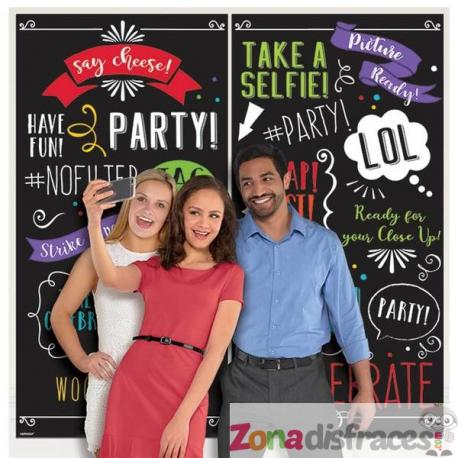 Cartel photocall happy party - Imagen 1