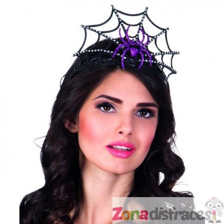 Tiara de reina de las arañas negra para mujer - Imagen 1