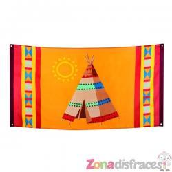 Bandera india grande - Imagen 1