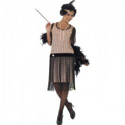 Disfraz de charlestón glamuroso para mujer - Imagen 1