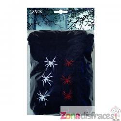 Telaraña negra con 6 arañas - Imagen 1