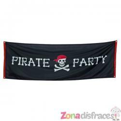 Cartel de fiesta pirata - Imagen 1