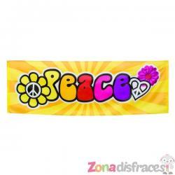 "Cartel de fiesta hippie ""Peace"" - Imagen 1"