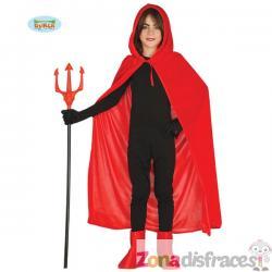Capa de demonio roja infantil - Imagen 1
