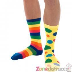Calcetines de payaso multicolor - Imagen 1