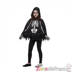 Poncho de esqueleto infantil - Imagen 1