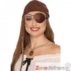 Parche de pirata marrón para adulto - Imagen 1