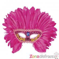 Antifaz de flamenco rosa para adulto - Imagen 1