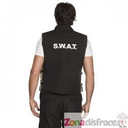 Chaleco de agente SWAT negro para adulto - Imagen 1