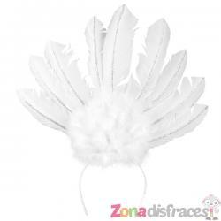 Tiara de carnaval brasileño blanca para mujer - Imagen 1
