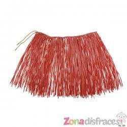 Falda hawaiana roja para adulto - Imagen 1