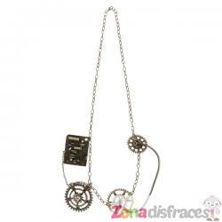 Collar steampunk de engranajes dorados - Imagen 1