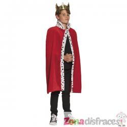 Capa de rey roja para niño - Imagen 1