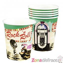 Set de 6 vasos Rock n' Roll - Imagen 1