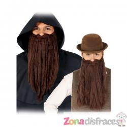 Barba larga marrón para hombre - Imagen 1