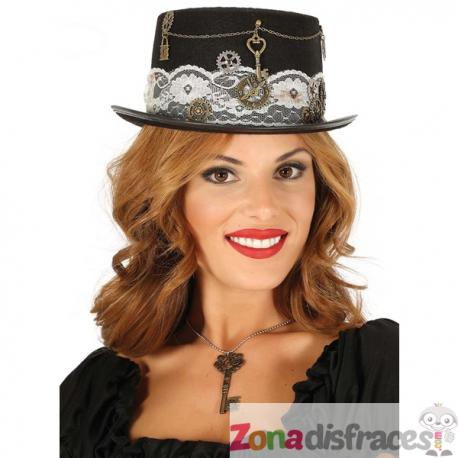 Sombrero steampunk negro para adulto - Imagen 1