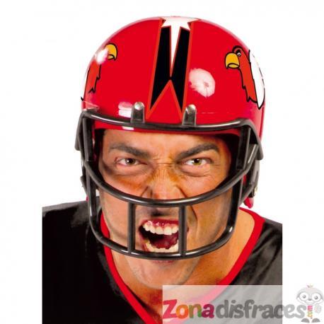 Casco de fútbol americano rojo para adulto - Imagen 1