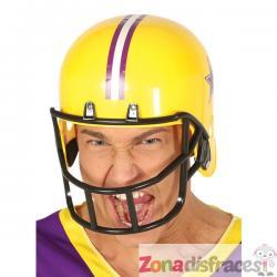 Casco de fútbol americano amarillo para adulto - Imagen 1