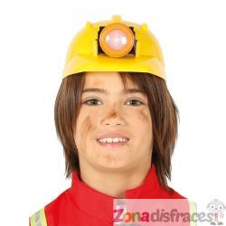 Casco de minero amarillo infantil - Imagen 1