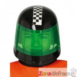 Casco de piloto de fórmula 1 negro infantil - Imagen 1