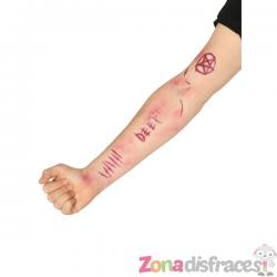 Tatuaje de cicatrices demoníacas para adulto - Imagen 1