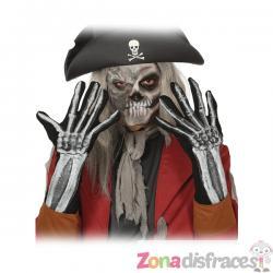 Guantes de manos de esqueleto para adulto - Imagen 1