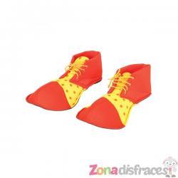 Zapatos de payaso rojos para adulto - Imagen 1