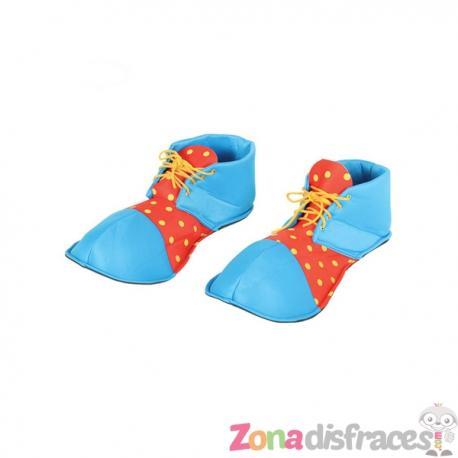 Zapatos de payaso azules para adulto - Imagen 1