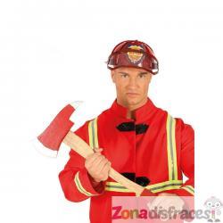 Hacha de bombero roja para adulto - Imagen 1