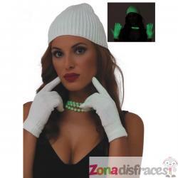 Guantes de neón verdes para mujer - Imagen 1